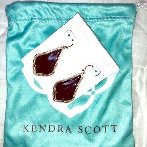 Kendra Scott Alex Gold Earrings - Black Opaque